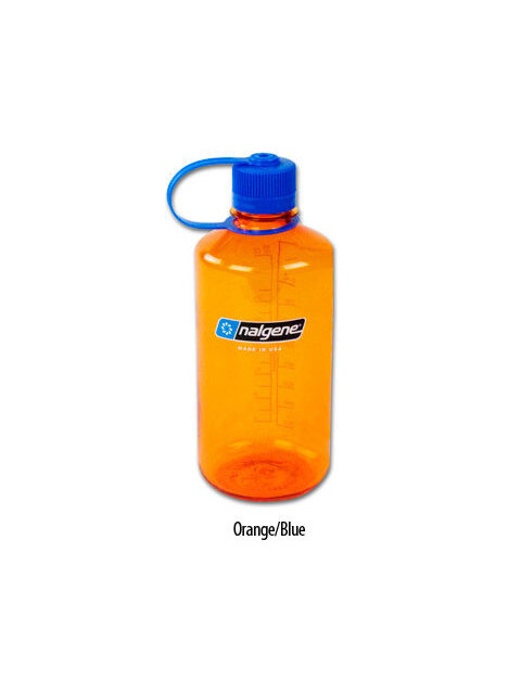 Nalgene 1L Narrow Mouth Bottle Orange/Blue (2034)